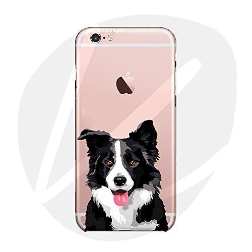 (Sleeping bear) Apple iPhone XR Funda Carcasa,Pequeño Animal Perro Lindo De La Historieta(Collie fronterizo) Patrón TPU Silicona Caso Funda Cover Carcasa+Cuerda de Seguridad-Border Collie