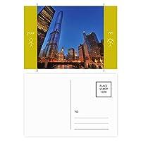 都市星の夜空 友人のポストカードセットサンクスカード郵送側20個