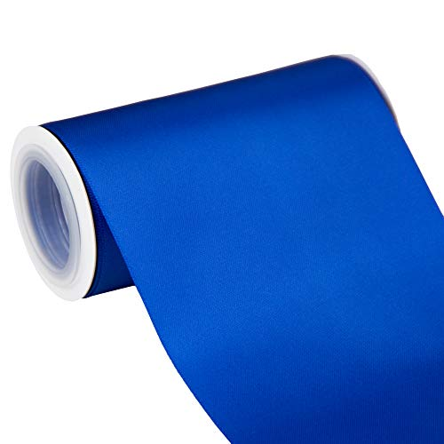 VATIN 4' Wide Double Faced Polyester Royal Blue Satin Ribbon- 5 Yard/Spool, Perfect for Chair Sash, Making Bow, Sewing and Wedding Bouquet