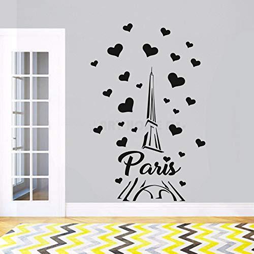Sanzangtang Paris Frankrijk Tour liefde hart design muursticker modern decoratie huis romantisch Parijs papier wandposter