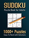 1000+ Sudoku Puzzles for Adults: A Book With More Than 1000 Sudoku Puzzles from Easy to Hard for adults.