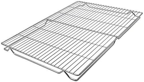 LANEJOY 100% 304 Stainless Steel Cooling and Baking Rack Oven Safe Heavy Duty Commercial Quality for Roasting, Cooking, Grilling, Drying (16.211.8in) (1)