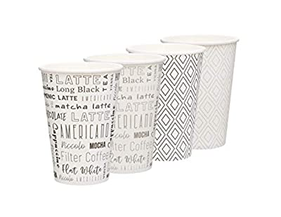 Disposable Coffee Cups, To Go Paper Cups for Hot Beverages, Coffee, Tea, Espresso. 100 Pack - 10oz Premium Design multipack …