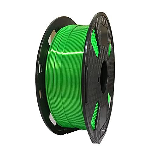 HANLILI kasu Seta Lucida PLA 3D. Filamento della Stampante 1.75m. 1 kg con Rame Nero Rame Nero Arcobaleno Bianco Blu PLA Stampa Materiale 3D filamenti (Color : 11 Fluorescent Green)