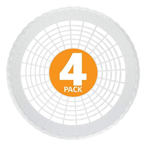 Plastic 9' Paper Plate Holders in White Maryland Plastics, 4 plate holders per unit