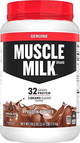 Muscle Milk Genuine Protein Powder, Chocolate, 32g Protein, 2.47 Pound, 16 Servings