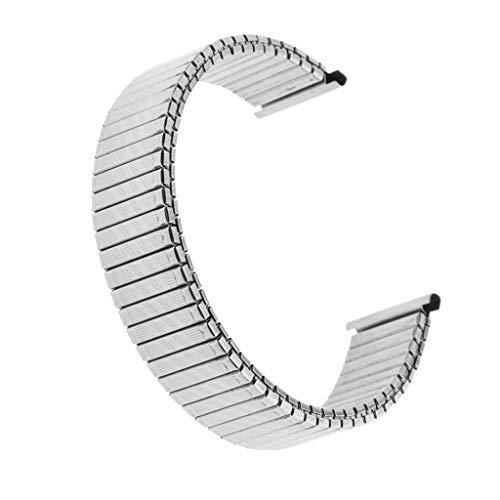 DFKai1run Correa de Acero Inoxidable, 18mm Cepillado Plata Sólida De Acero Inoxidable Reloj Banda De Primavera De La Correa De Brazalete Deportes de Moda