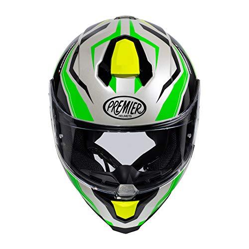 Premier Casco Hyper Rw 6,Blanco Perla / Verde Fluo / Amarillo Fluo / Negro,M+