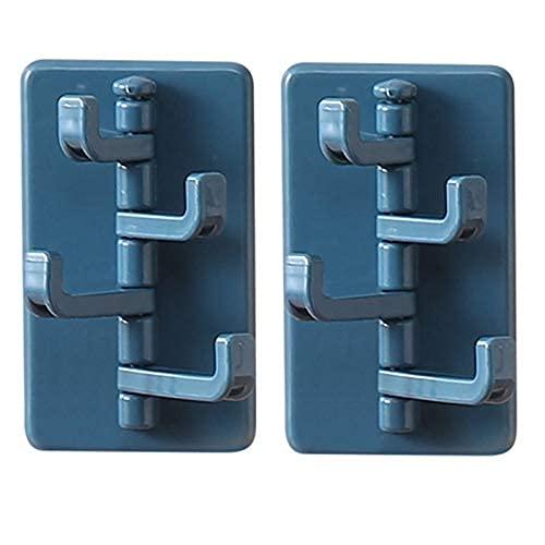 LPQSY Ganchos de suspensión de Pared Ganchos Adhesivos Ganchos Adhesivos, Ganchos giratorios, Estante de Pegado sin Golpe, detrás de la Cocina Puertas de Pared (Color: D) (Color : A)