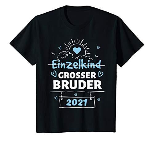 Kinder Bald Großer Bruder 2021 Junge Geschwister Sohn Baby Geschenk T-Shirt