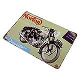 XREE Norton-history - Placa de hierro con texto en inglés 'Not Rusted Tin Signs' (40 x 30 cm)