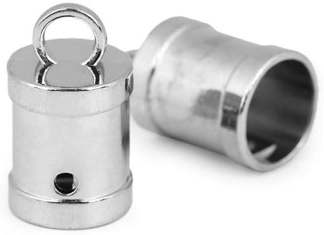 2pc Nickel Metal shopping Cord End Cap Max 72% OFF Ø12mm Caps T Crimp Webbing Ends