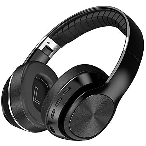 ML S HJDY Auriculares Bluetooth Over Ear,Auriculares Plegables con Sonido Envolvente 8D de Gran duración de la batería Adecuado para Deportes y Juegos,Negro