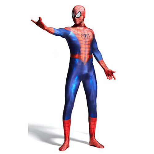 Superhero Movie Spiderman rollenspel kostuum set volwassenen performance-pak elastische panty overall lycra -Thema partij jurk SPIDERSYBB Height-S(145-160) rood