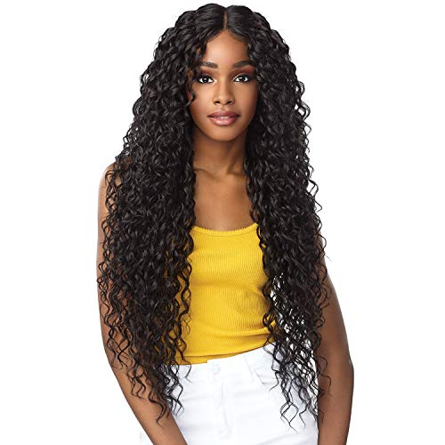 Sensationnel Synthetic Hair Empress Natural Deep Part Lace Front Wig NAYANA (1B)