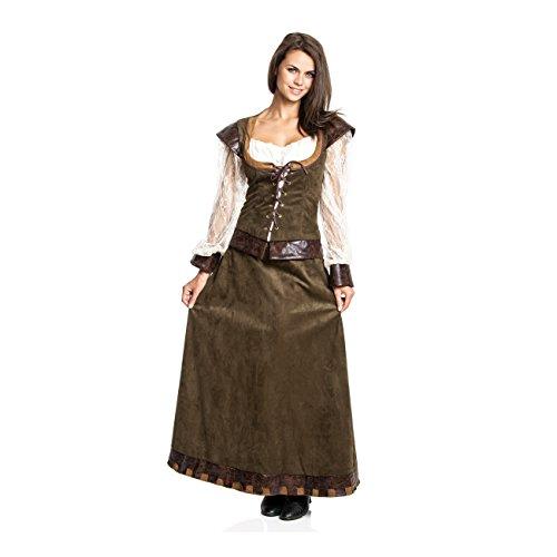 Kostümplanet® Lady Marianne Robin Hood Damen Kostüm Kleid Größe 40/42