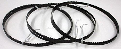 3 x Premium Sägeband Bandsägeband Bandsägeblatt Sägebänder 1505 mm x 6 mm x 0,36 mm x 6 Zähne pro Zoll , für Holz , Hartholz , Brennholz , Sperrholz , Quer- und Schweifschnitte, geeignet für Maschinen wie : Elektra Beckum BS 230 , Rexon 2300 A u.v.m.