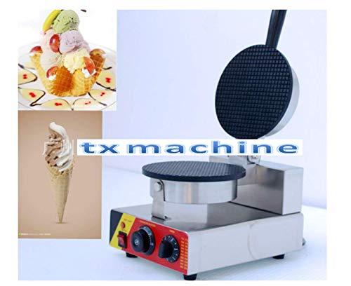 TX® Waffle Baker Belgische Waffel Maker Waffeleisen Eis Waffel Kegel Maschine Single head mit 3-Formen(220V/50HZ)