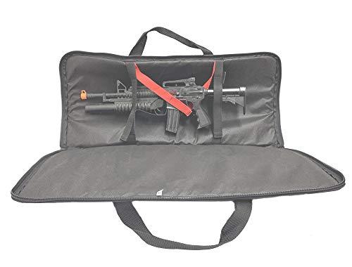 Explorer Military Outdoor Police Gun Case Gear 600D Rifle Case Padded Long Gun Case Rifle Storage (Black, 37)