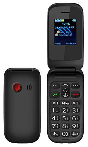 simvalley MOBILE Senioren Klapphandy: Notruf-Klapphandy XL-949 mit Garantruf Easy, Dual-SIM und Bluetooth (Klapphandys)