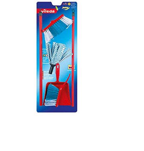 Bavaria Home Style Collection Wischmop Set / Kehr Garnitur / 4 teilig für Kinder / Kinder Spielzeug / mit Besen Wischmop und Handfeger und Schaufel