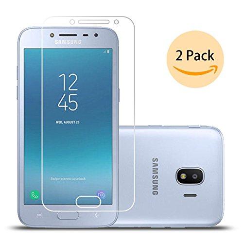 LJSM [2 Pack] Samsung Galaxy Grand Prime Pro 2018 / Samsung Galaxy J2 Pro 2018 SM-J250F Protector de Pantalla Vidrio Templado Proyectar película Protectora Cristal Cristal Templado Film (5.0