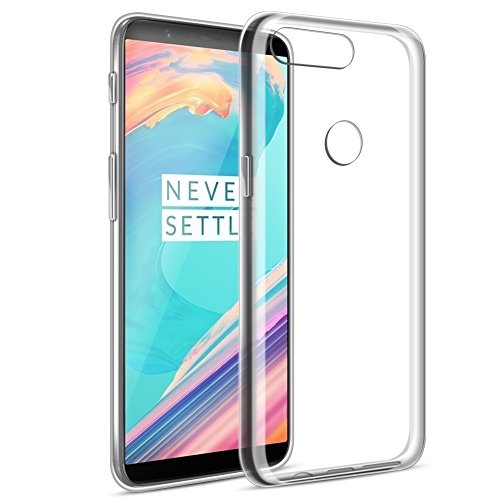 Eouine OnePlus 5T Hülle, Ultra Slim Soft TPU SchutzHülle Silikon Stoßfest Bumper Hülle Cover für OnePlus 5T (6 Zoll) Smartphone (Transparent)