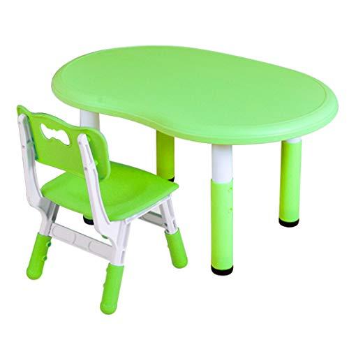 Table d'étude pour enfants Table de Jeu Multifonction pour Enfants Chaise Table de Maison pour Enfants pouvant être soulevée Protection de la santé (Color : Green)