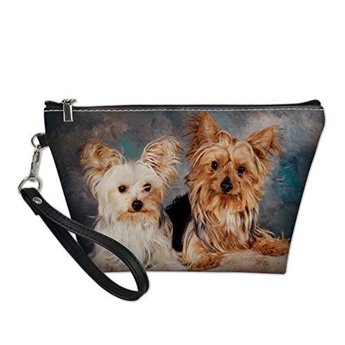 Showudesigns Trapez-Make-up-Tasche, modisch, für Reisen, Make-up-Halter für Frauen Yorkshire Terrier einheitsgröße
