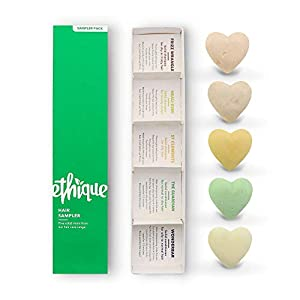 Ethique Hair Sampler, Shampoo & Conditioner Bar Variety Pack (3 Shampoos + 2 Conditioners)- Sustainable, Plastic Free…