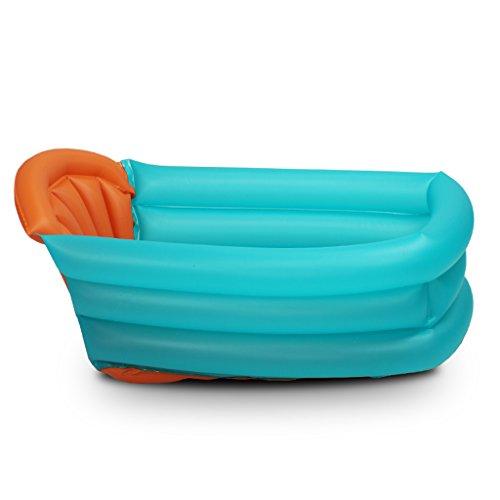 CAODANDE Heiße aufblasbare Babybadewanne/Alter 1 Monat - 3 Jahre/Luftpumpe (1 Packung) Dreidimensionales Design Isolationseffekt ist stark Badewanne