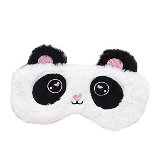 dressfan Peluche Rose Masque pour Les Yeux Enfant Femme Fille Adulte Homme Licorne Masque pour Les Yeux Nouveauté Masque pour Les Yeux Dormir Bande Dessinée Masque de Sommeil,Taille unique,panda