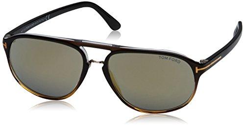 Tom Ford FT0447 52B 60 gafas de sol, Marrón (Avana ScuraFumo Grad), 60.0 para Hombre