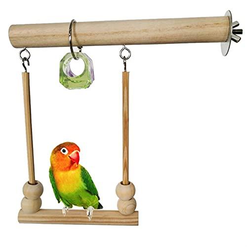 ZTTT Pájaro colector de pájaros Parrot de Madera Perspieta Playstand con Perlas de masticación Juguete Soporte de Dormir Juguetes para Budgie Birds