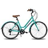 Hiland 700C Hybrid Bike for Women Shimano...