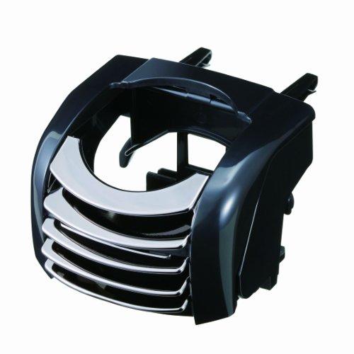 ナポレックス 車用 ドリンクホルダー エアコンルーバー取付・丸型 Fizz ACホルダー メタルブラック 500mlのペットボトル・紙パックをホールド NAPOLEX Fizz-872
