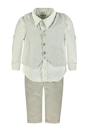 Kanz Baby - Jungen Weste + Hemd 1/1 Arm + Hose, Mehrfarbig, Gr. 104