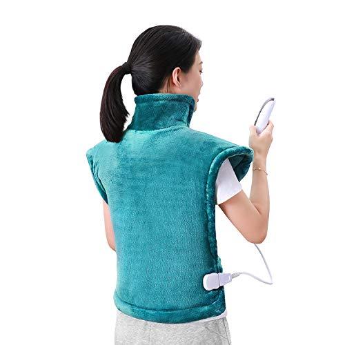 Heizkissen für Rücken Schulter Nacken Abschaltautomatik Wärmekissen und Schnelle Erwärmung Heiße Therapie Warp mit 5 Temperaturstufen, Überhitzungsschutz, Automatische Abschaltung, (60x90cm)