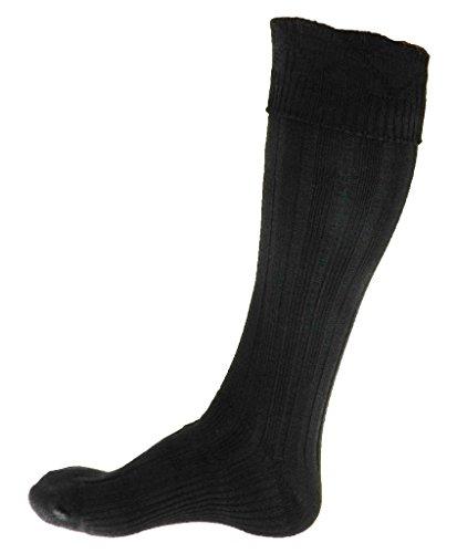 Scottish Kilt Black Hose Large