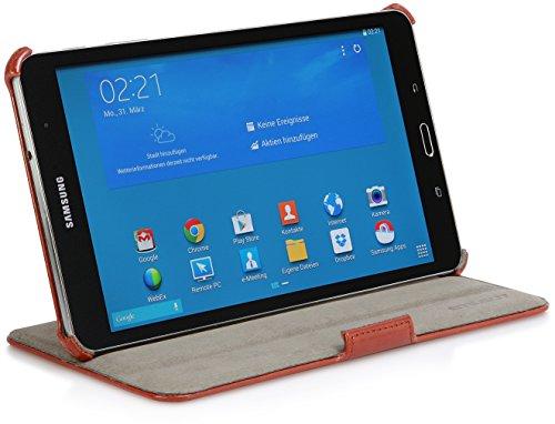 StilGut UltraSlim Hülle V2, Tasche mit Stand- & Präsentationsfunktion kompatibel mit Samsung Galaxy TabPRO 8.4, Cognac Vintage