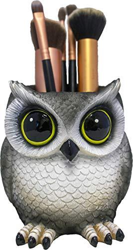 DWK - Hootie Holder - Collectible Owl Pen Pencil Makeup Brush Holder - Adorable Storage Organizer for Desk, Office, Home