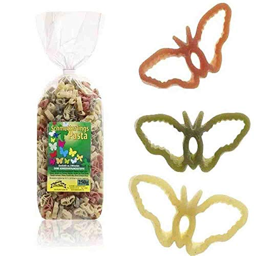 Schmetterlings-Nudeln 250g // Motiv-Nudeln Schmetterling Hartweizengrieß