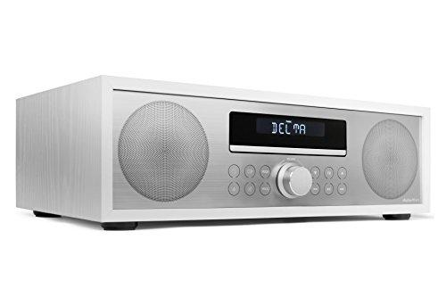 AudioAffairs Radio mit CD Player | CD-Mikroanlage | MP3-Audio | Stereoanlage mit Bluetooth | Kompaktanlage | PLL UKW-Radio mit RDS | USB | AUX-IN | inkl. Fernbedienung | Weiß | Verbesserte Version