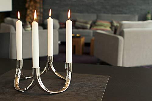 Philippi - Bow magnetischer Kerzenhalter - 3 Bögen - Der Kerzenleuchter, der Sich einfach erweitern lässt