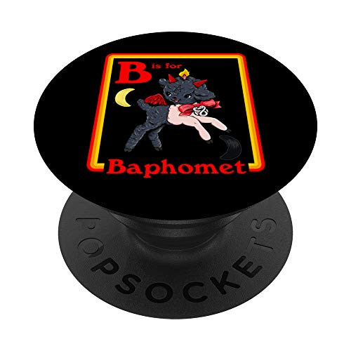 B for Baphomet Satanic Cute Devil Retro Vintage Satan Tarot PopSockets PopGrip: Swappable Grip for Phones & Tablets