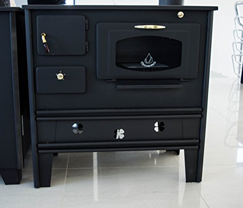 Cocina de leña de Prometey; 7 kW, con horno, superficie de