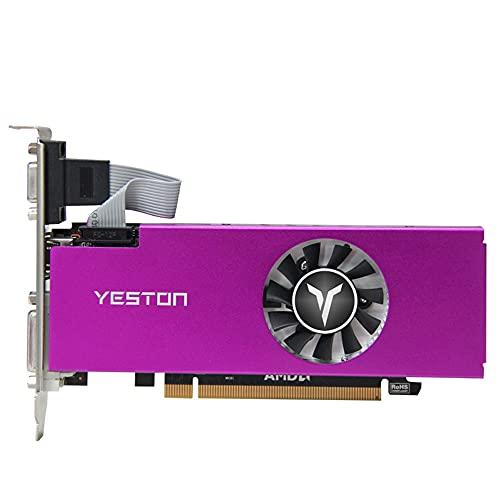 Yeston Tarjeta de vídeo Radeon RX 560 4G D5 LP XL2 GPU 4GB GDDR5 128bit Desktop RX560 Tarjetas gráficas compatibles con DVI-D HD-MI VGA PCI-E 3.0 (RX560-4G D5 LP)