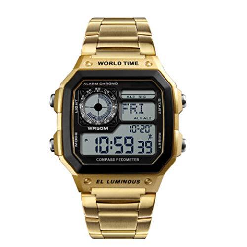 Jian E Outdoor bergbeklimmen multifunctioneel kompas horloge waterdicht Amerikaanse soldaten Wild Survival Square herenhorloge, Smart Sports Watch /, D