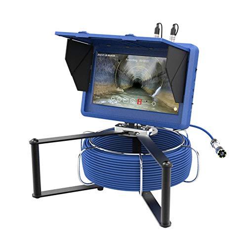 HBHYQ Pantalla táctil de 10 Pulgadas WiFi 23mm HD 1080P cámara de la tubería Industrial de la Costura de con el Contador del medidor/DVR grabación de Video/edición de Fotos / 6W Luces LED,30M