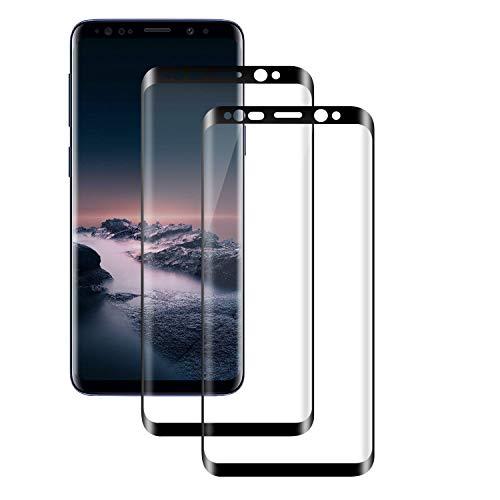 PUUDUU [2 Pack Cristal Templado para Samsung Galaxy S8, Dureza 9H, Anti-Rasguños, Sin Burbujas, Vidrio Templado Protector de Pantalla para Samsung Galaxy S8